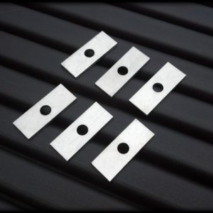 thin aluminum spacers