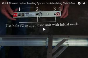 Quick Connect Ladder Leveling System for Articulating / Multi-Position Ladders