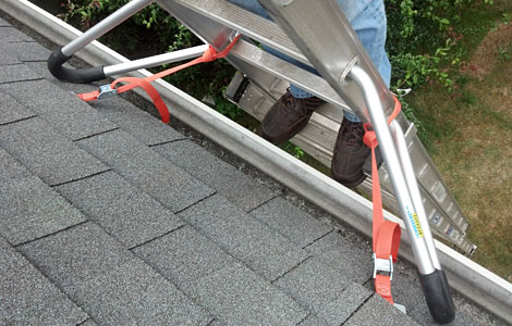 Ladder to Roof Tie-down Straps