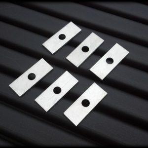 thin aluminum spacers