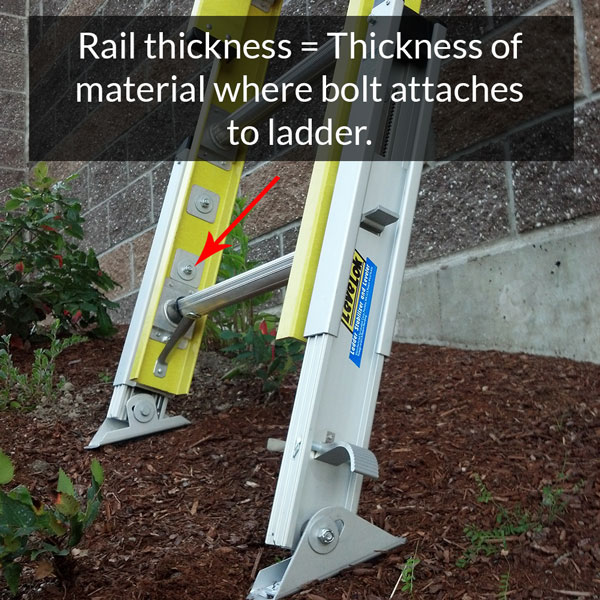 Ladder Rail Thickness Example