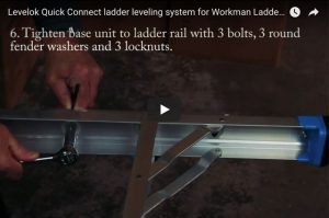 Levelok Quick Connect ladder leveling system for Workman Ladders