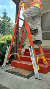 Approved for step ladders -KeyLok Quick Connect leveler